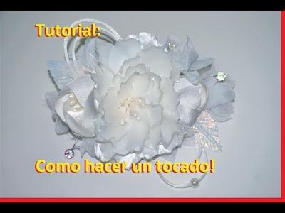 Tutorial: Tocado con flores de tela!✨