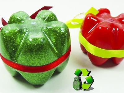 Adornos Navideños con Botellas Plásticas PET - Ecobrisa DIY