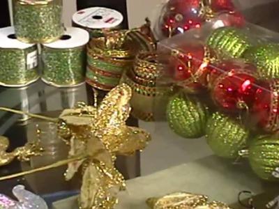 Arbol de Navidad, como adornar con cinta alambrada, cintas navideñas, muñecos navideños