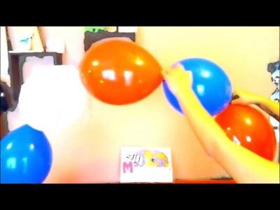Arco de globos sin estructura (paso a paso)
