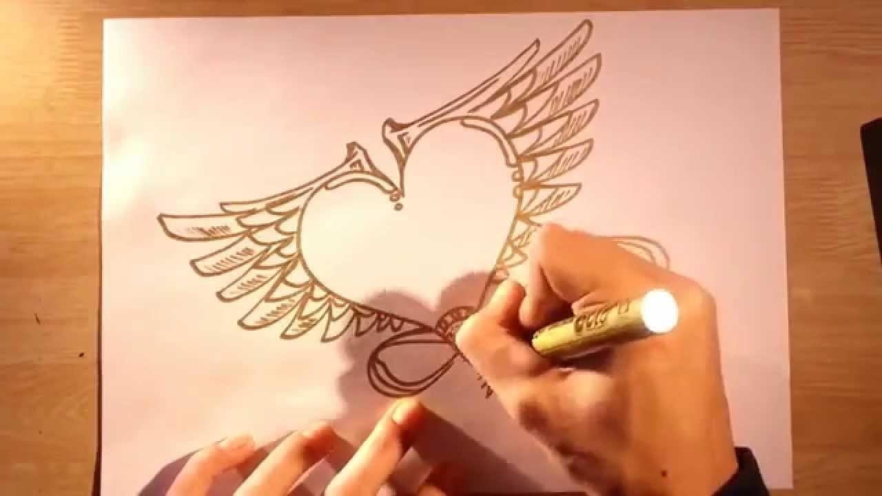 Como dibujar dibujos de amor para colorear y pintar faciles paso a paso fáciles y sencillos