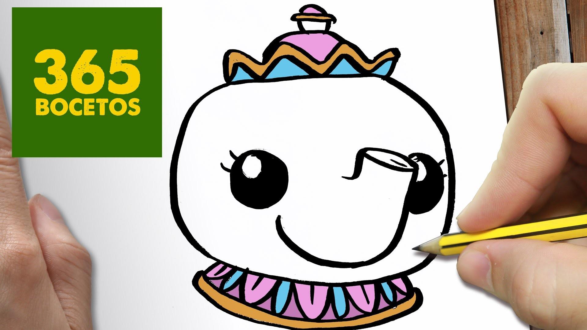 Dibujos Para Colorear Kawaii Disney: COMO DIBUJAR MRS POTTS KAWAII PASO A PASO