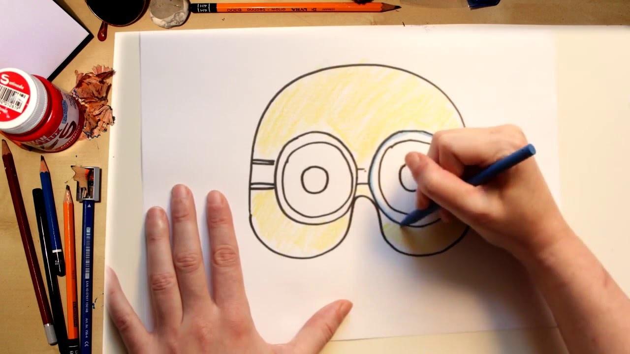 Como dibujar una máscara de Minions - dibujos para niños