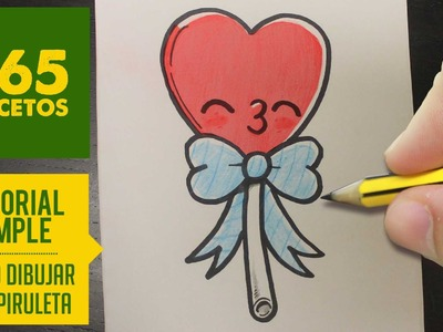 COMO DIBUJAR UNA  PIRULETA KAWAII PASO A PASO - Dibujos kawaii faciles - How to draw a lollipop