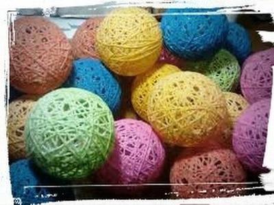 Como hacer bolitas con cuerda para decorar