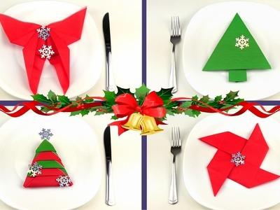 DIY: 8 Tips Doblar Servilletas para Navidad. Como doblar servilletas para la mesa de Año Nuevo!