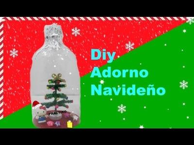 Manualidad navideña con botella de plástico reciclada y DIY Arbol de Navidad- Practiko