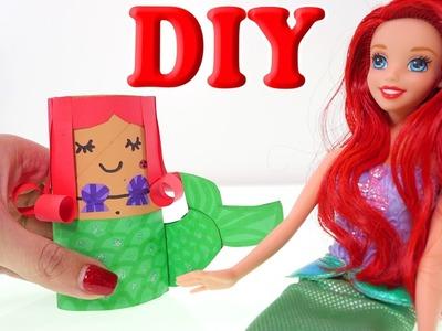 Ariel DIY Crea a tu Propia Sirenita Ariel Utilizando un Rollo de Papel Vacio Manualidades Disney