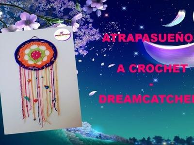 Atrapasueños a crochet - Dreamcatcher (instrucciones en español e inglés)