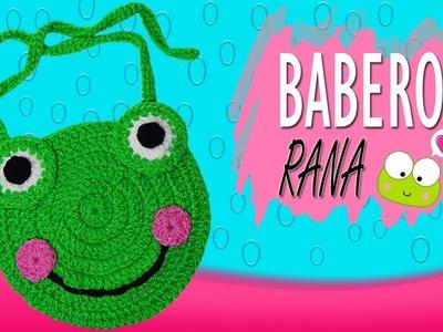 Babero de Rana tejido a crochet  | Paso a paso