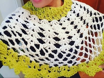 Capa Combinada a Crochet (ganchillo) a la Talla Deseada❤