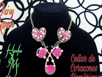 Collar de Corazones Alambrismo, DIY