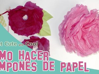 Como hacer pompones de papel FÁCIL para decorar fiestas!