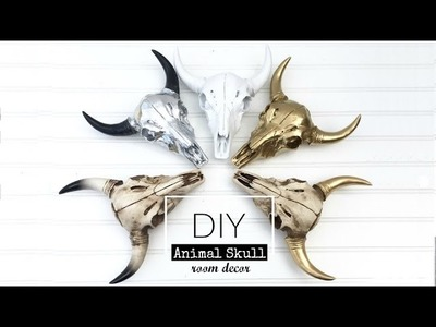 DIY Animal Skull Decoration | Room Decor | Monica Beneyto