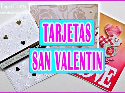 DIY Tarjetas para San Valentín | Ideas para regalar | Amor y Amistad ❤ Tutorial Luisa PaperCrafts