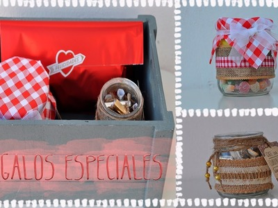 DIY || Tarros decorados para regalo o decoración ||