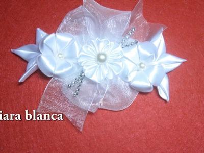 #DIY - Tiara en blanco -#DIY - White Tiara