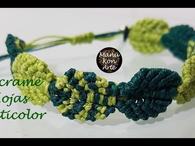 DIY Tutorial Hojas Multicolor.Multicolor Leaves