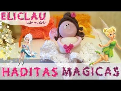 Haditas mágicas en porcelana y crochet | Magical fairies in porcelain and crochet | EliClau
