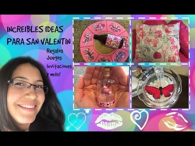 IDEAS para San Valentin.Manualidades y regalos para alguien especial