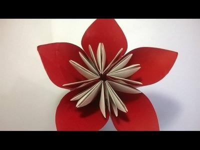 Origami Rosa de papel (Audio Español) - How to make an Origami Rose