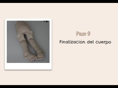 Paso 09 - Finalización del cuerpo - Muñeca Angy Diy - handmade Dolls