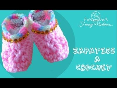 Plantilla zapatos a crochet.Ganchillo para bebe (base 0 a 3 meses) 1.2