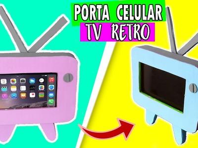 Porta celular TV RETRO Ɩ DIY Soporte para celular o movil  ♡ SOY CREATIVA ♡ Ɩ MANUALIDADES FACILES Ɩ