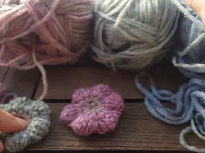 Tutorial flores a crochet con lanita realizado por Gemma Ballesté Gómez