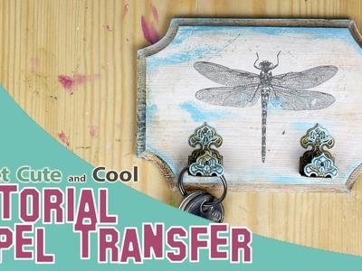 Tutorial: transferencias con papel transfer en madera