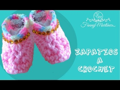 Zapatitos para bebe crochet.Ganchillo  (base 0 a 3 meses) 2.2
