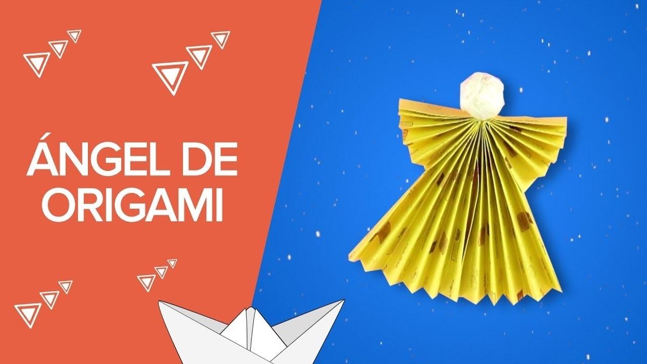 Ngel de origami manualidades navide as con papel for Adornos navidenos origami paso a paso