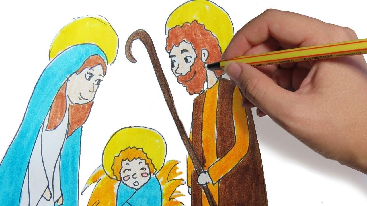 Como Dibujar El Pesebre Para Navidad Paso A Paso Dibujos Faciles De