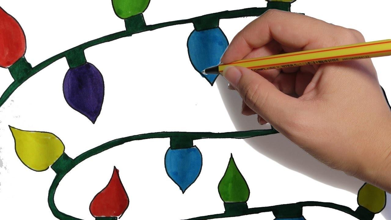 Como Dibujar Luces Navidenas Paso A Paso Facil Dibujos De Navidad A
