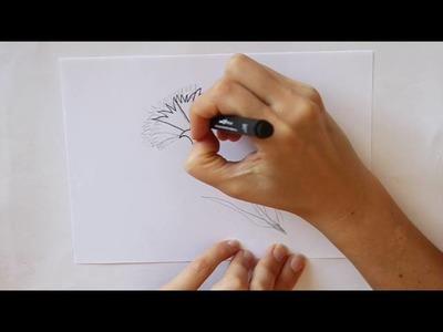 Cómo dibujar un Clavel Dibuja Conmigo Dibujos de Flores