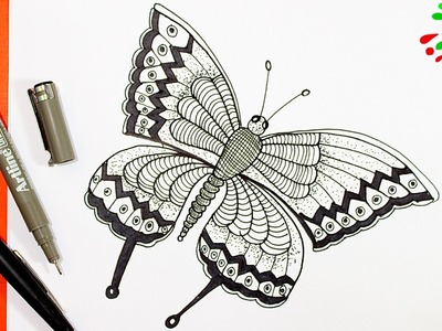 Como Dibujar una Mariposa │How to draw a butterfly │Dibujos