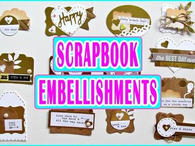 Embellecedores para Scrapbook Caseros | DIY Embellishments | Scrapbooking Luisa PaperCrafts