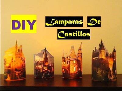 Manualidades faciles. Haz tus lamparas de castillos. Super faciles