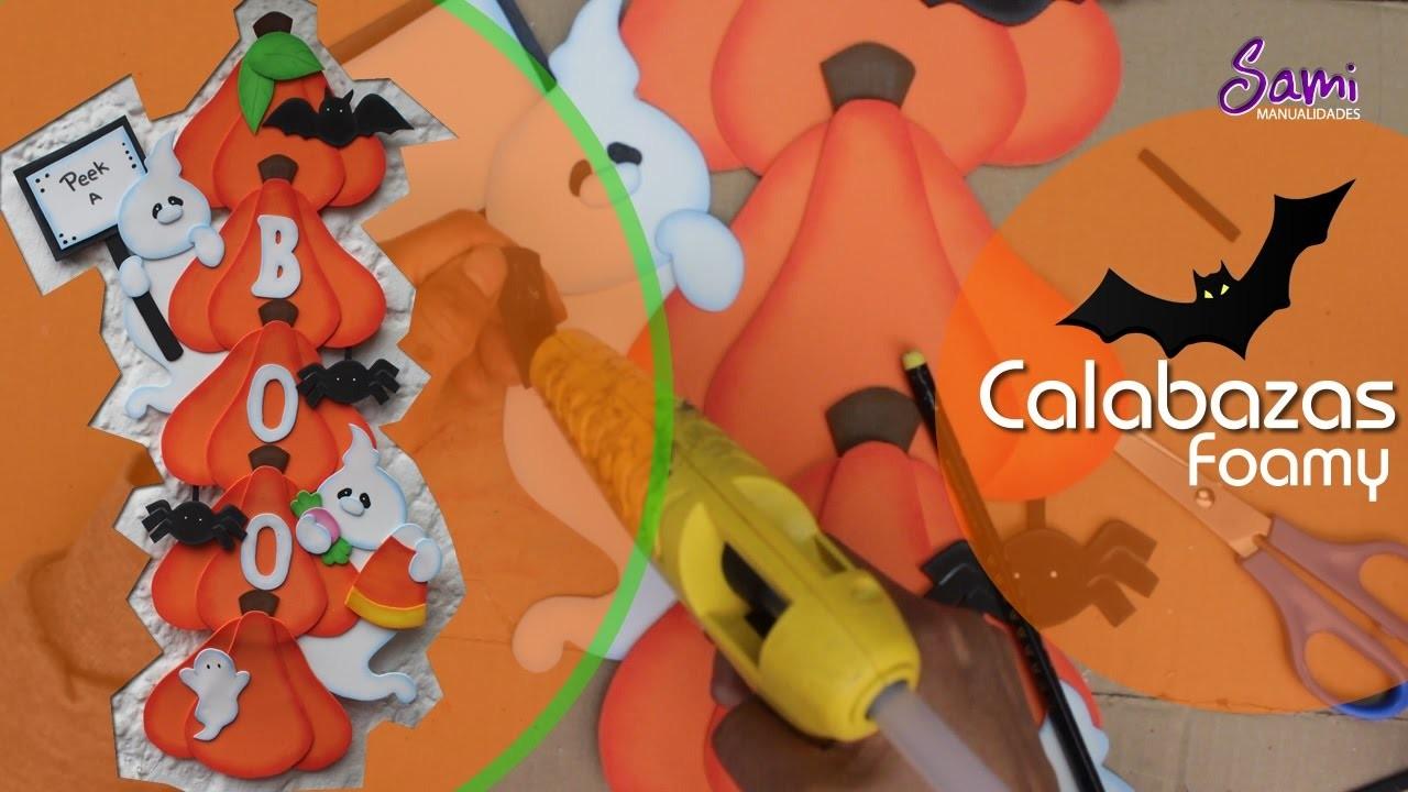 Manualidades goma eva calabazas para halloween - Calabazas para halloween manualidades ...