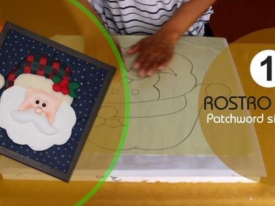 Manualidades para navidad - como hacer  patchword sin agujas