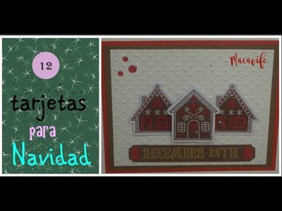 12 days of Christmas card.12 Tarjetas para Navidad #9