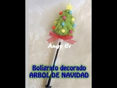 Arbol de navidad porcelana fría. Bolígrafo