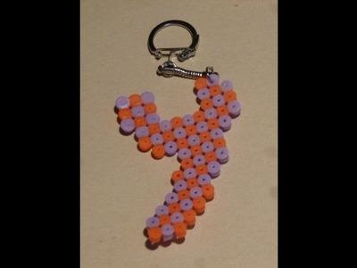 Como hacer un llavero de hama beads LETRA Y