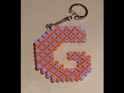 """Como hacer un llavero de hama beads con la letra """" G """""""