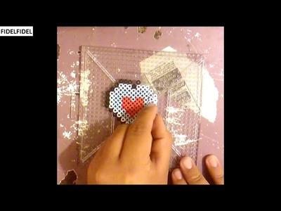 Como hacer un trozo de corazón con hama beads