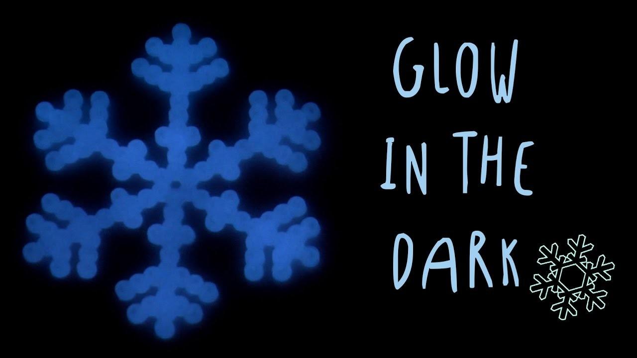 Copos de Nieve que brillan el la oscuridad con HAMA BEADS
