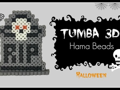 ☆ HALLOWEEN: Tumba Hama Beads en 3D. Tomb Perler Beads ☆
