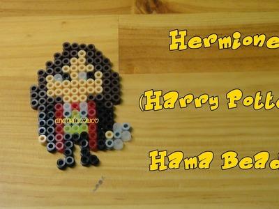 HERMIONE (Harry Potter) de hama beads, pyssla, perler beads