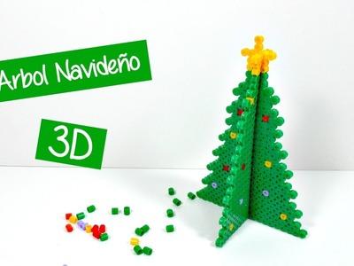 Ideas de Navidad #4 | Árbol con hamabeads 3D | Decoración