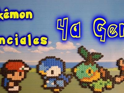 Pokémon iniciales de la 4a generación! Con Hama.Perler Beads [Perla - Diamante - Platino]